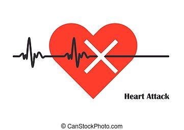 pulso, taxa, Coração, ataque,