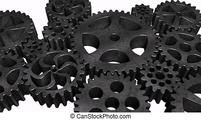 Rotating gears - The composition of the metal rotating gear