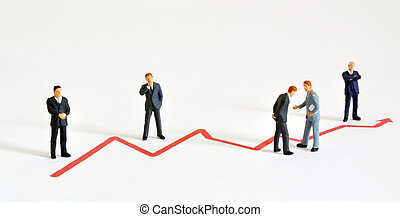Business Development - Group of managers (model railroad...