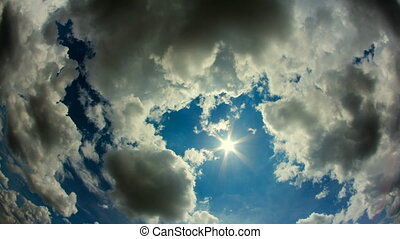 Sun with Clouds Timelapse - beautiful spring clouds and sun...