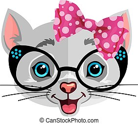 cute cat illustration for T-shirt graphics, cards or poster