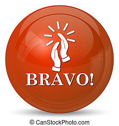 Bravo icon. Internet button on white background.
