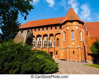 Malbork main courtyard and Grand Master's Palace, Poland