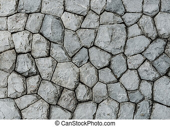 granite stone wall surface - background and texture of...