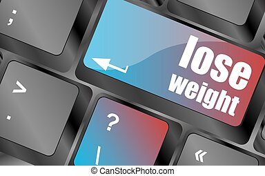 Lose weight on keyboard key button keyboard keys, keyboard...