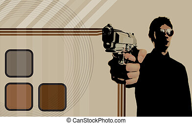 70s gangster layout background - Retro 70s thug gangster...