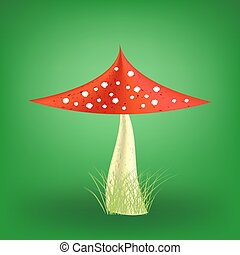 Vector Poisonous Mushroom. Fly Agaric - Vector Poisonous...