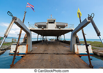 Ferry boat going to Koh Chang Island in Trat Province....