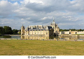 Chateau de Chantilly, France - Chantilly, France- August 08,...