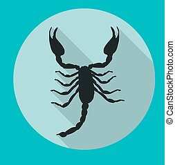 Scorpion Silhouette Icon Vector Illustration