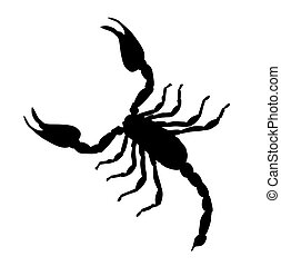 Large Scorpion Silhouette Vector Illustration
