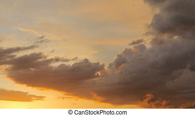 Sunset Clouds Timelapse - beautiful sunset clouds and sun in...