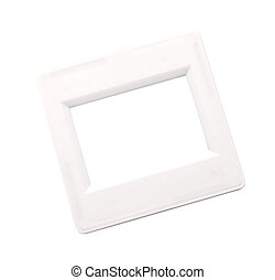 Frame for a photo - a slide isolated on a white background