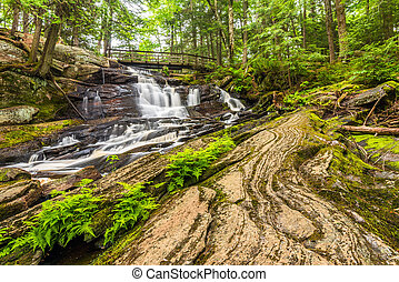 Little High Falls are located in Bracebridge Ontario Canada,