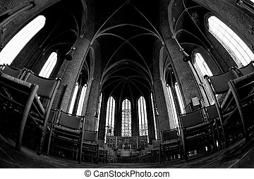 Interior of Lutheran Church Marktkirche in Hannover Germany