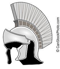 romana, capacete