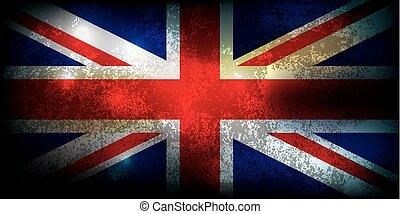Union Jack Grunge Flag Illustration