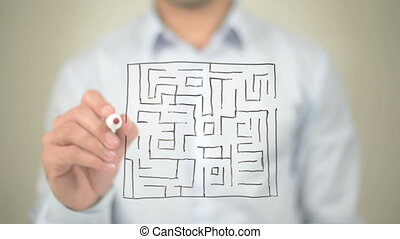 """Maze, Path to Success, Drawing on Transparent Screen"""