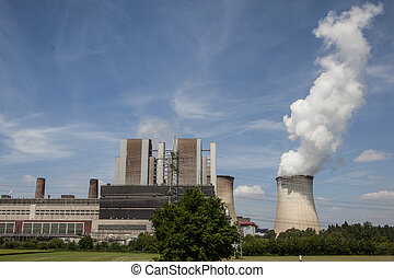 Power plant, field of photovoltaic panels and wind turbines,...