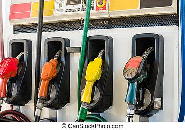 fuel pump - Horizontal shot of some fuel pumps