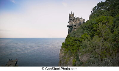 well-known castle Swallow's Nest near Yalta in Crimea, -...