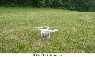 Drone take off in slow motion - This is a radio-controlled...