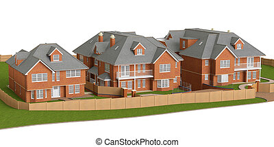 Residential cottage, homes - Residential cottage of bricks...