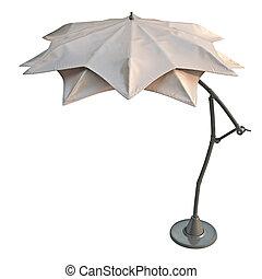 Modern beach umbrella - Double open beach umbrella, for...