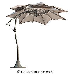 Modern beach umbrella - Double open beach umbrella, sun...