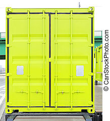 Cargo Container - Closed Doors at Green Cargo Container