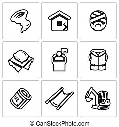 Vector Set of Emergency Service Icons - Rescue service in...