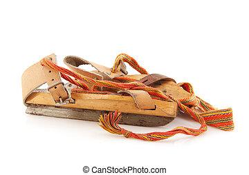 viejo, holandés, patines
