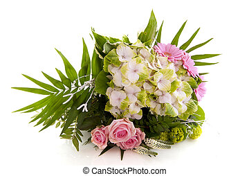 Flower bouquet with Hydrangea - Luxury flower bouquet with...