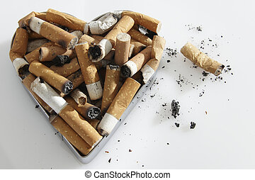 cigarette stubs