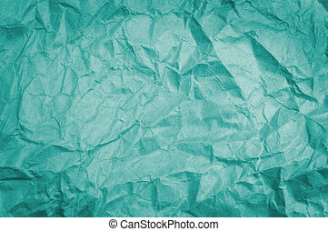 Crumpled paper - Teal crumpled paper background texture