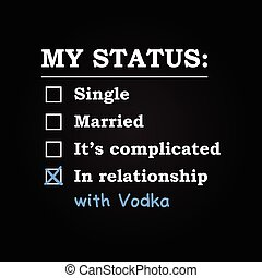 In relationship with Vodka