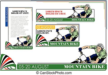 Summer kinds of sports Mountain Bike