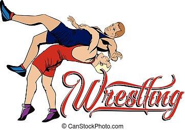 Summer kinds of sports. Wrestling