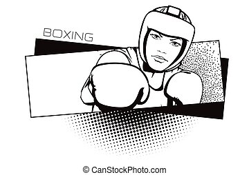 Summer kinds of sports. Boxing.