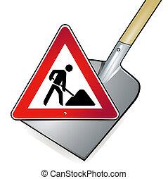 shovel road works