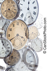 collage of old style clocks - collage of many old style...