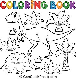 Coloring book dinosaur topic 4