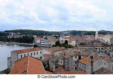 Overview of Porec city in Croatia - Overview of Porec...
