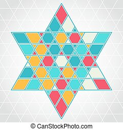 Patterned six-rays star background - Traditional oriental...