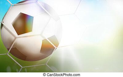3d soccer football background goal