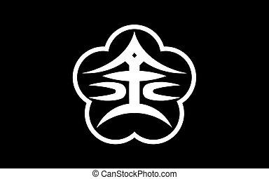 Flag of Kanazawa is the capital city of Ishikawa Prefecture,...