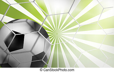 3d soccer football rays background graphic illustration...