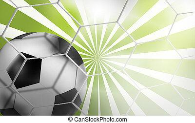 3D, futbol, fútbol, rayos, Plano de fondo,...