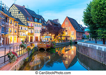 Colmar France Night - Colmar France at Night