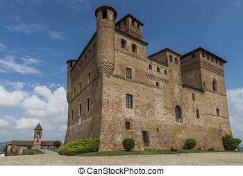 Wine Castle Grinzane Cavour and Church Piedmont - Grinzane...